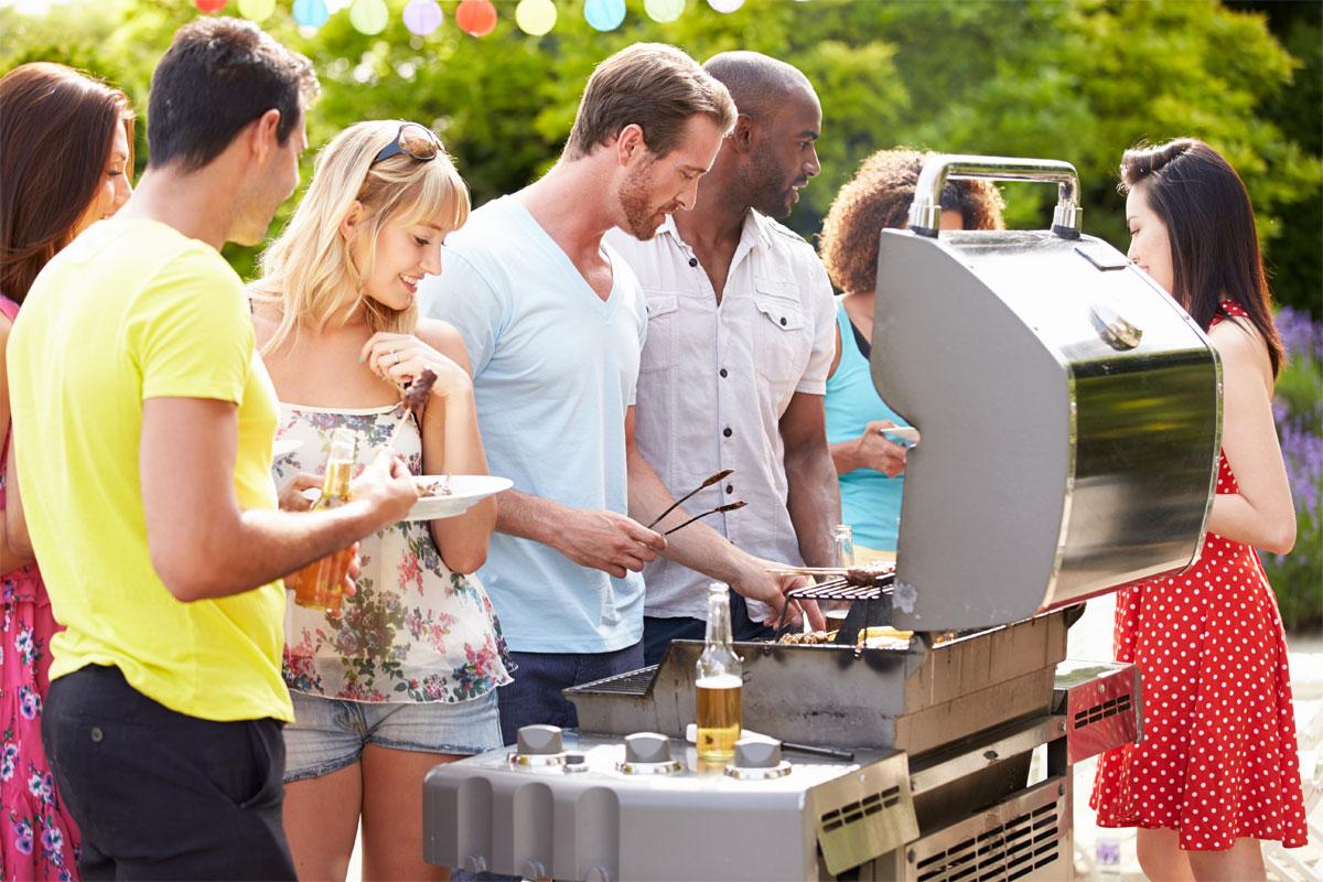 Backyard Barbecue People Beer