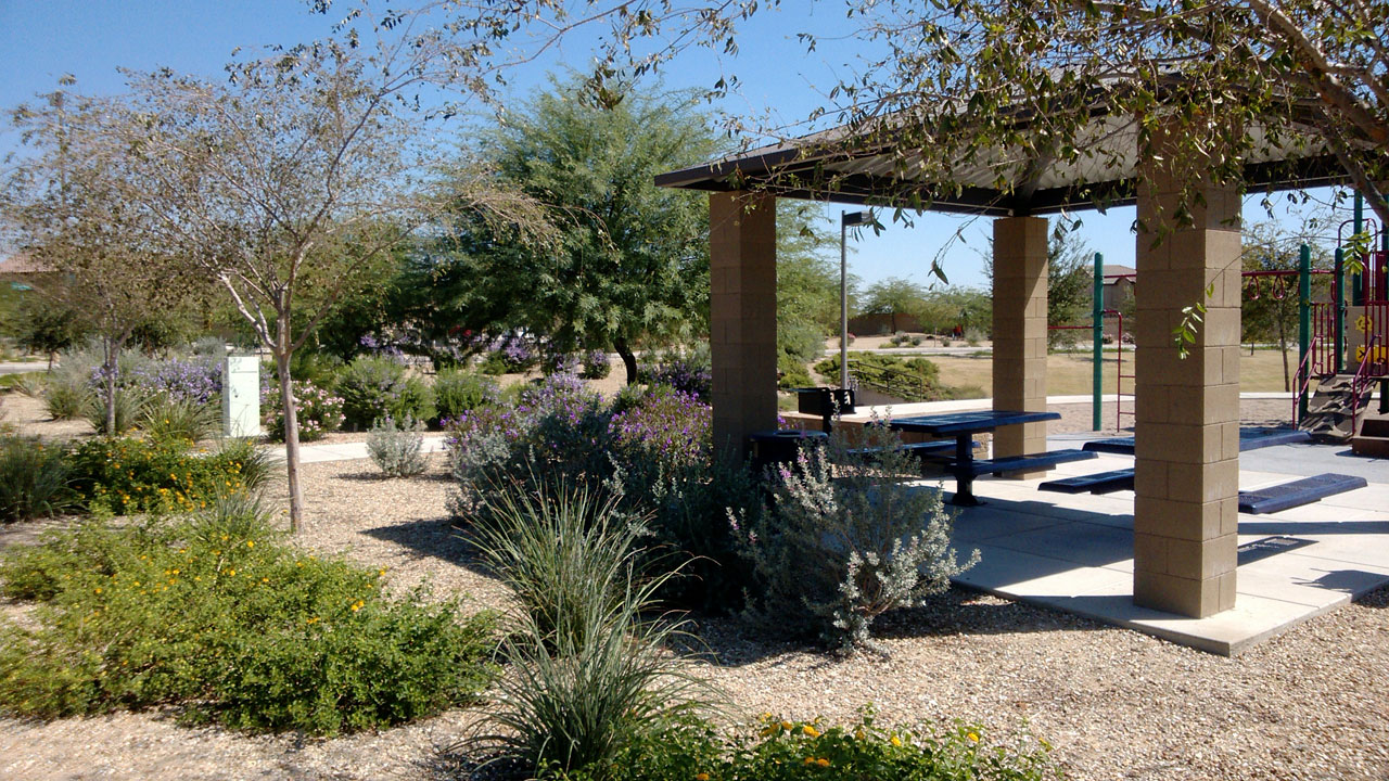 Desert Landscaping Ideas Gazebo